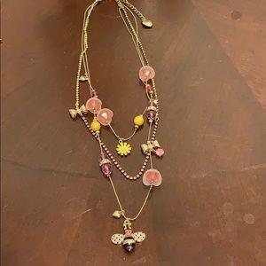 Beautiful multi layered Betsey Johnson 🐝 necklace